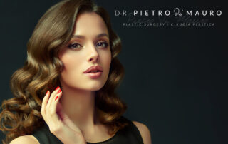 Beautiful woman with brown hair and brown eyes - Pietro Di Mauro