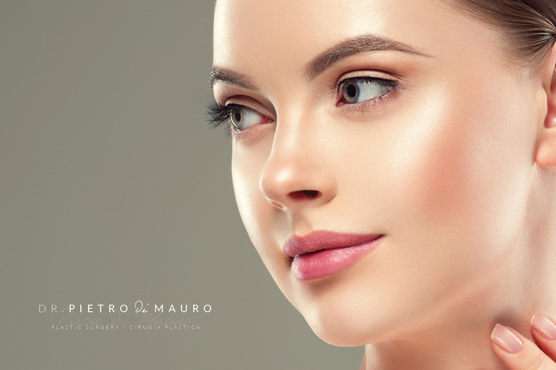 Beautiful woman after rhinoplasty - Pietro Di Mauro