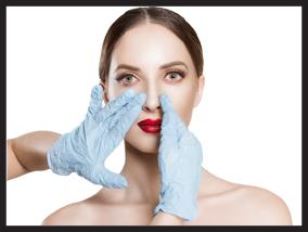 Girl getting a rhinoplasty surgery - Pietro Di Mauro