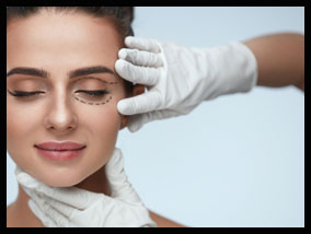 Girl ready for eye lift surgery - Pietro Di Mauro