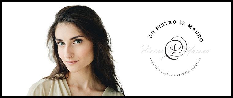 Beatiful brunette girl with facial revitalisation - Pietro Di Mauro